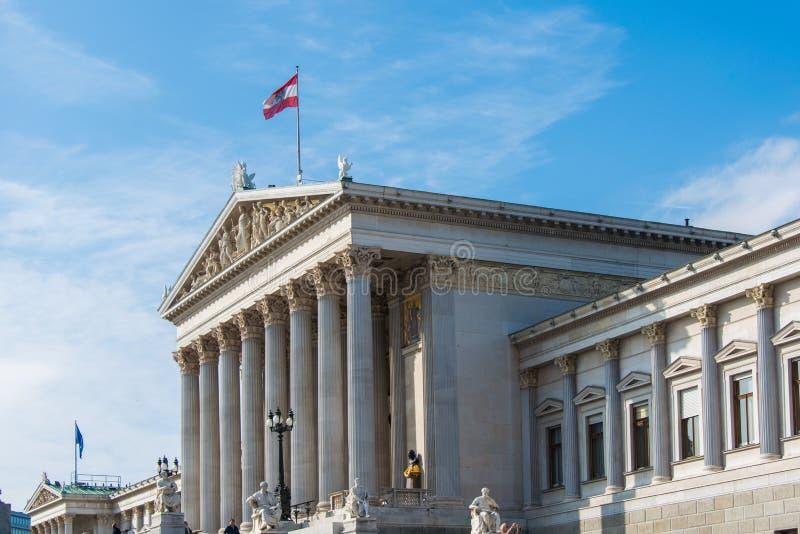 Austriacki parlament na Październiku 13 w Wiedeń fotografia royalty free