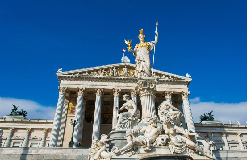Austriacki parlament na Październiku 13 w Wiedeń obrazy stock
