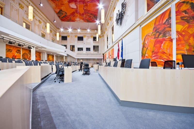 Austriacki parlament w Hofburg pałac zdjęcia stock