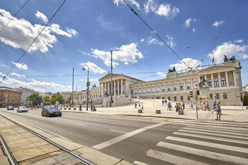 Austriacki parlamentu budynek fotografia stock