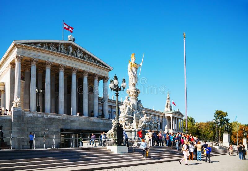 Austriacki parlamentu budynek w Wiedeń (Hohes Haus) obrazy royalty free