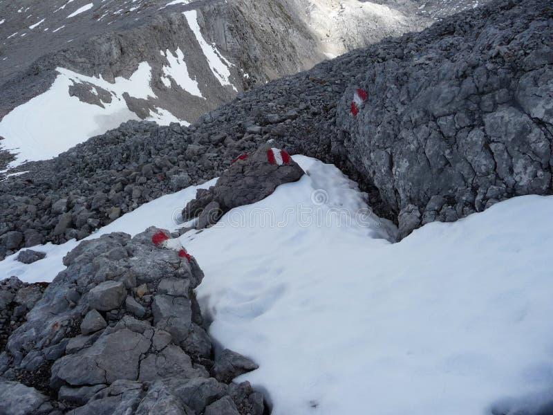 austriackich alp Ocechowanie ścieżka średnia złożoność fotografia royalty free