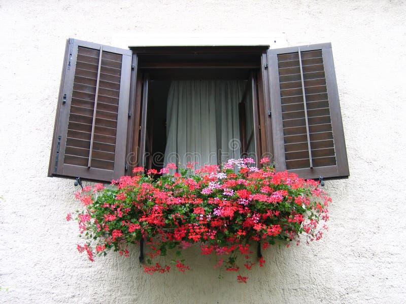 austriackie okno zdjęcia stock