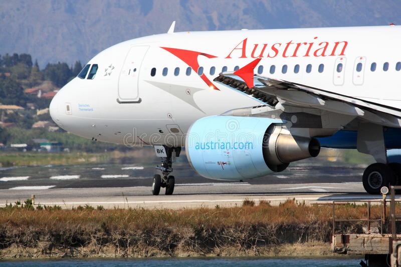 Austrian Airbus A320 On Runway Editorial Stock Photo