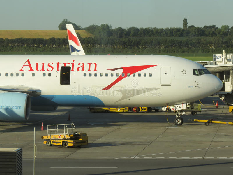 Austrian Airlines aircraft stock image