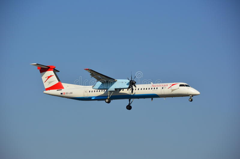 Austrian Airlines hebluje obraz royalty free