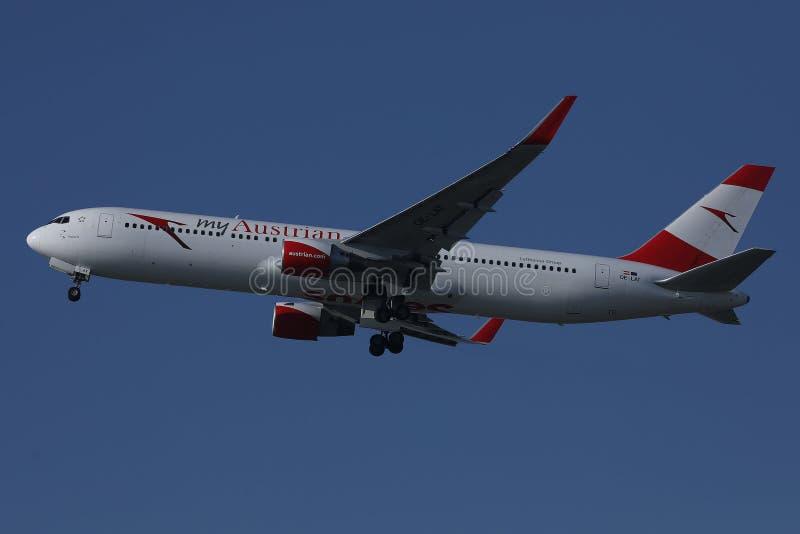 Austrian Airlines nivå, myAustrian livré arkivbild