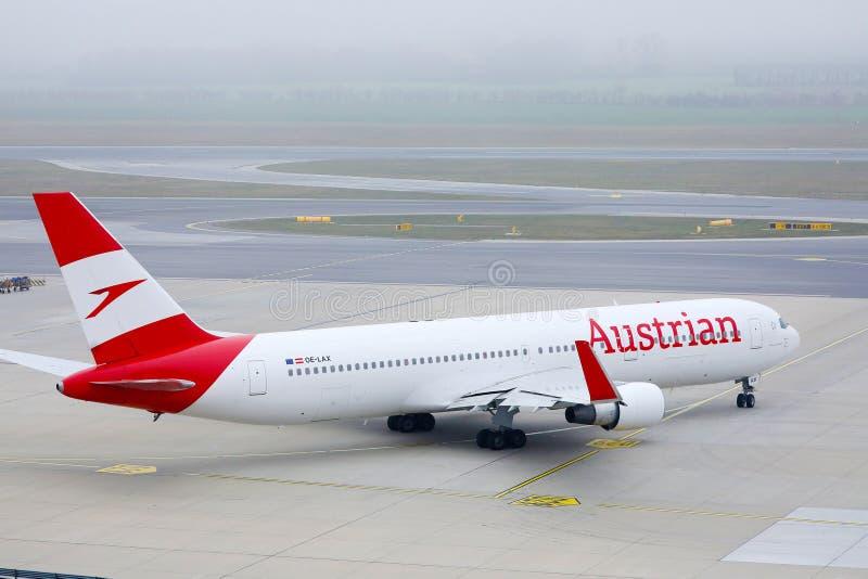 Austrian Airlines plan arkivfoto