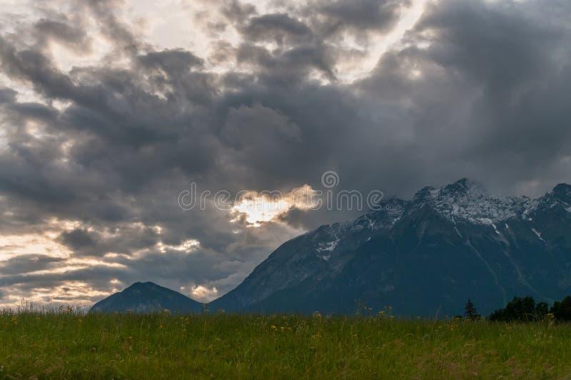The Austrian Alps near Innsbruck stock photography