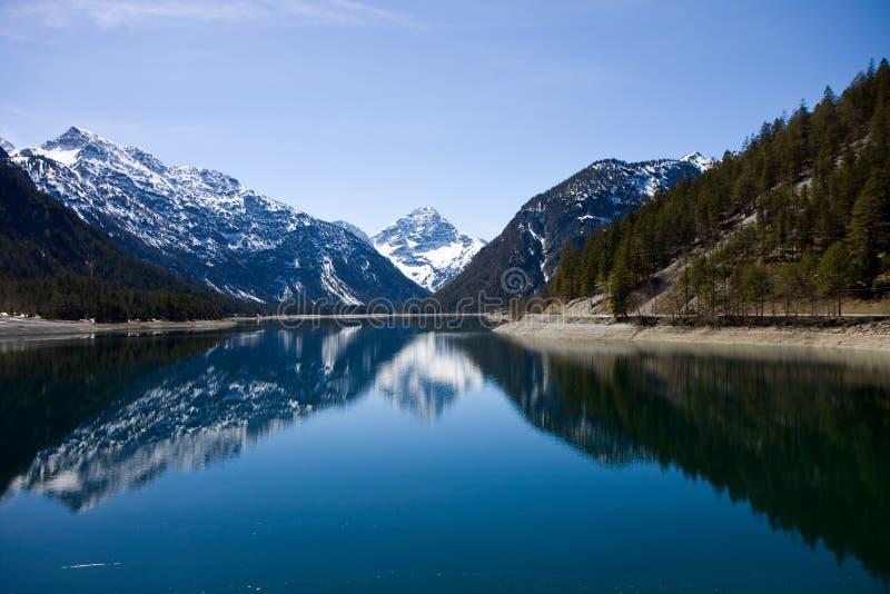 Austrian alps. Austrian tyrol alps near the border with germany royalty free stock photography