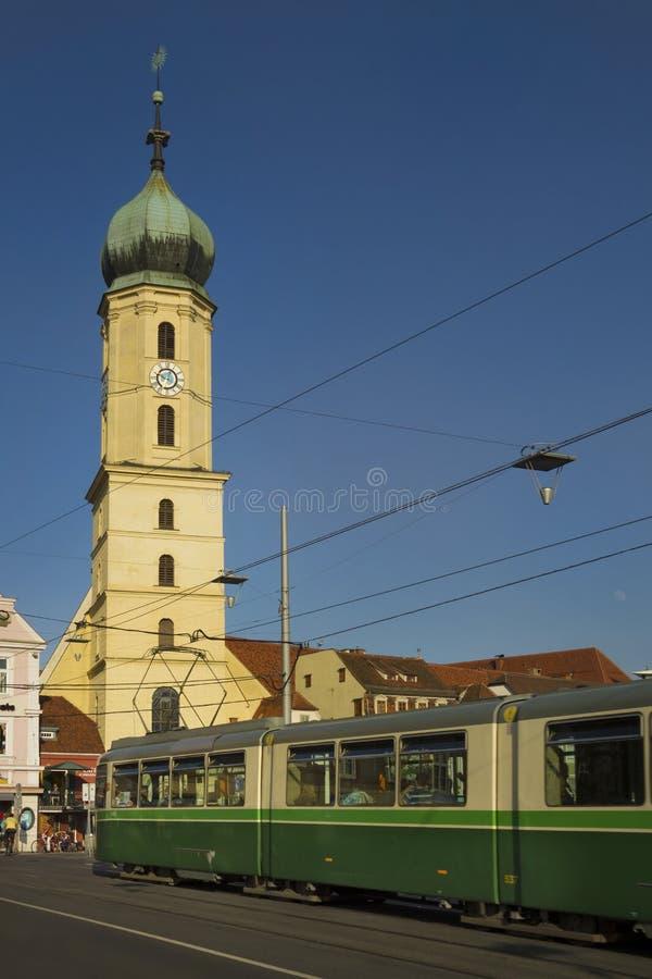 Download Austria stock image. Image of spire, europe, tram, religion - 32157845