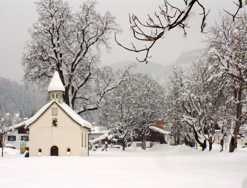 Download Austrian chapel in winter stock photo. Image of snow, christmas - 29638