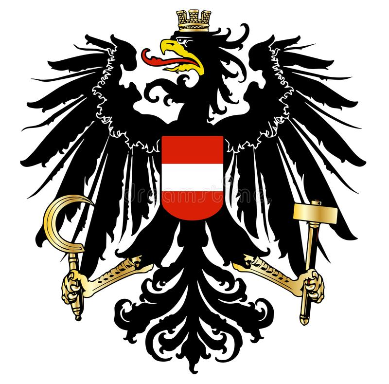 Austrian Coat of Arms. The Austrian coat of arms over a white background vector illustration