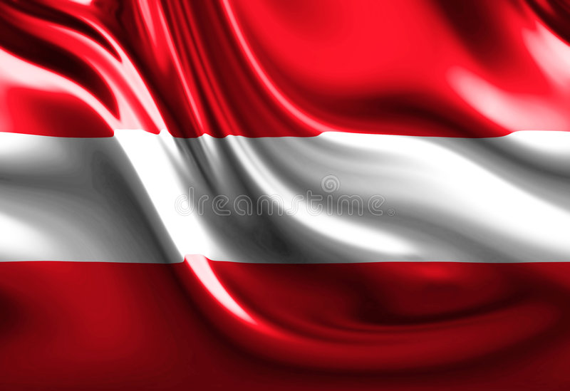 Austrian flag. With some folds royalty free illustration