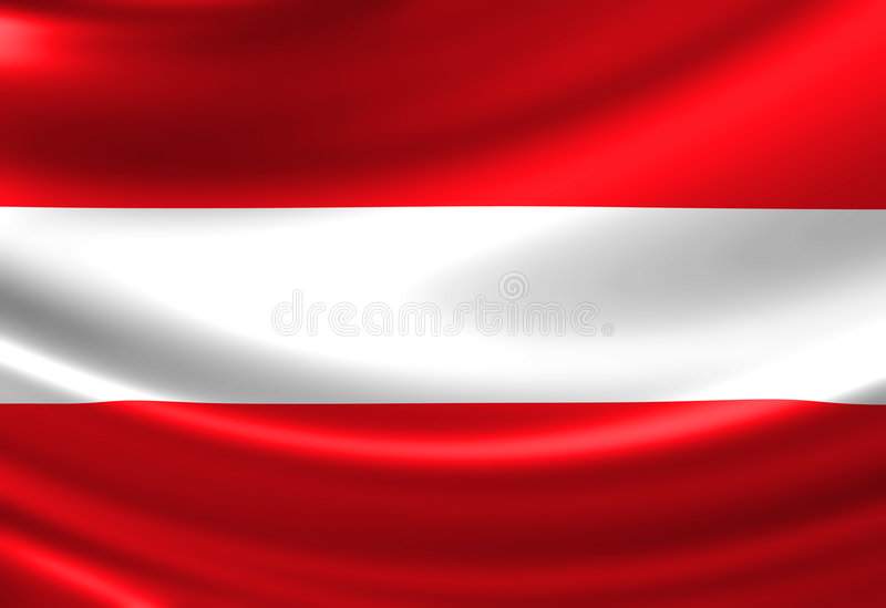 Austrian flag. Waving in the wind royalty free illustration
