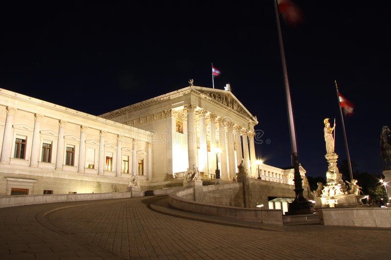 Download Austrian Parliament Building In Vienna At Night Stock Photography - Image: 32667832