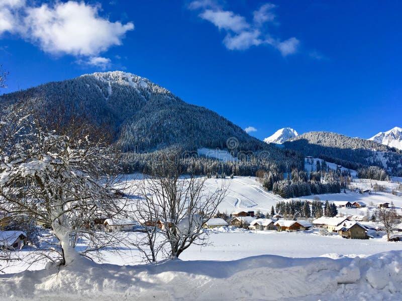 Austrian village stock photography