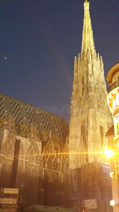 Austriche. Its a great church in the middel of city royalty free stock photo
