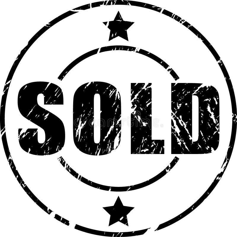 Ausverkaufter grunge Stempel lizenzfreie abbildung