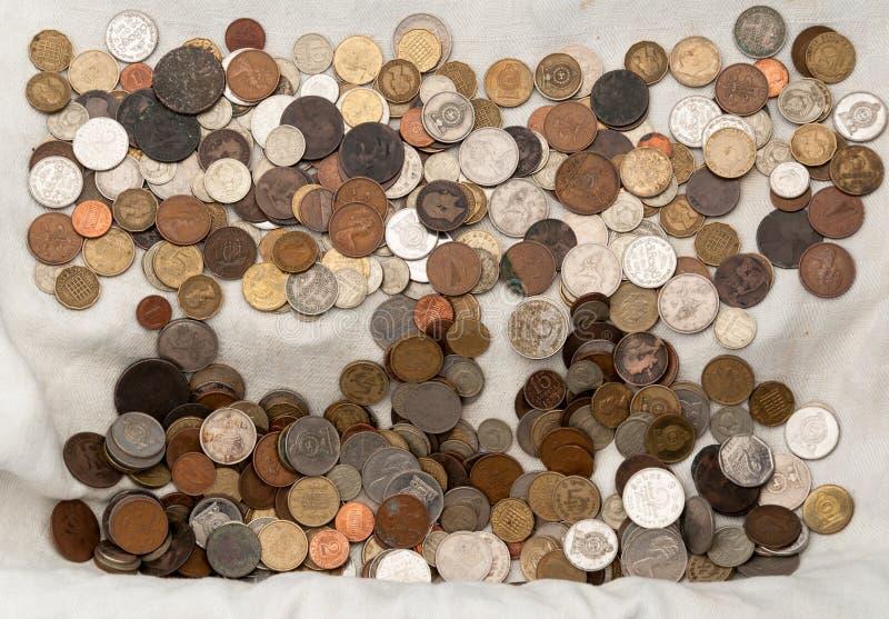 Alte Weinlesemünzen stockfotografie