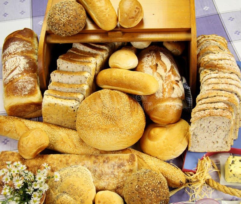 Auswahl der Brote lizenzfreie stockbilder