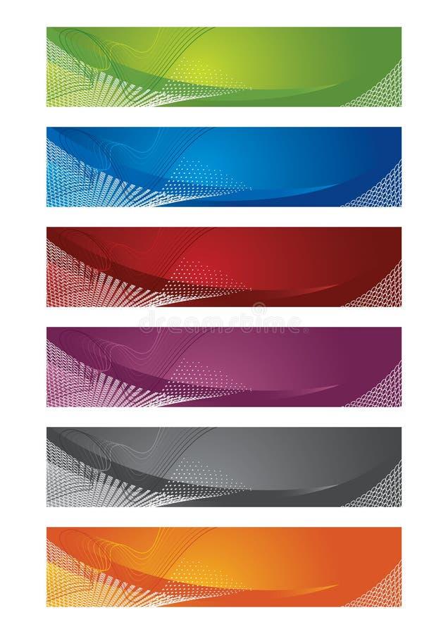 Auswahl der Halbtonfahnen lizenzfreie abbildung
