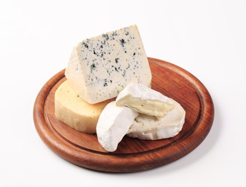 Auswahl der Käse stockfotos