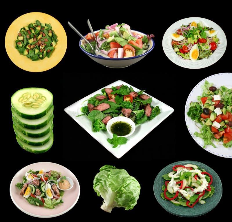 Auswahl der Salate lizenzfreies stockbild