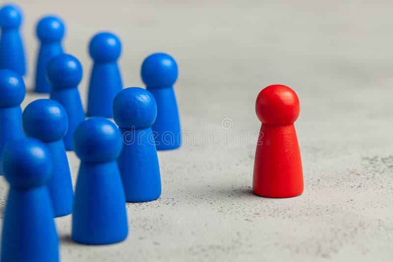 Auswahl und Suche nach dem besten Angestelltführer Personaleinstellung, Stunde Gute Arbeitskraft steht heraus in der Menge stockbilder