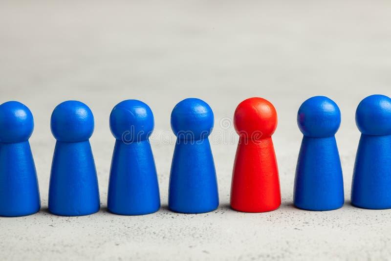 Auswahl und Suche nach dem besten Angestelltführer Personaleinstellung, Stunde Gute Arbeitskraft steht heraus in der Menge lizenzfreies stockbild