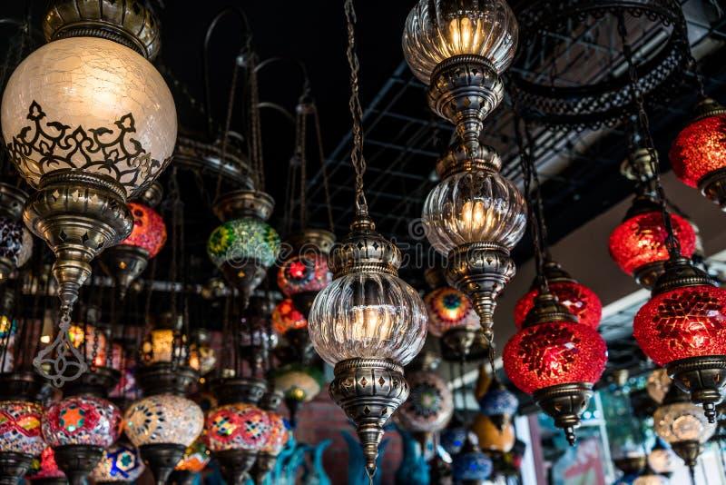 Auswahl von Lampen stockfoto