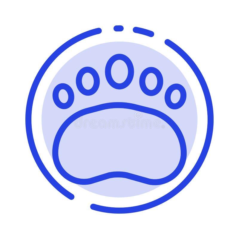 Ausweis, Ausbildung, Logo, Wissenschaft, Linie Ikone der Zoologie-blauen punktierten Linie lizenzfreie abbildung