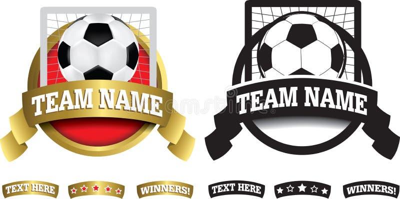 Ausweis, Symbol oder Ikone auf Weiß für Fußball oder Fußball lizenzfreie abbildung