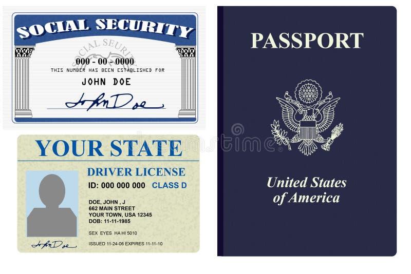 Ausweispapiere lizenzfreie abbildung