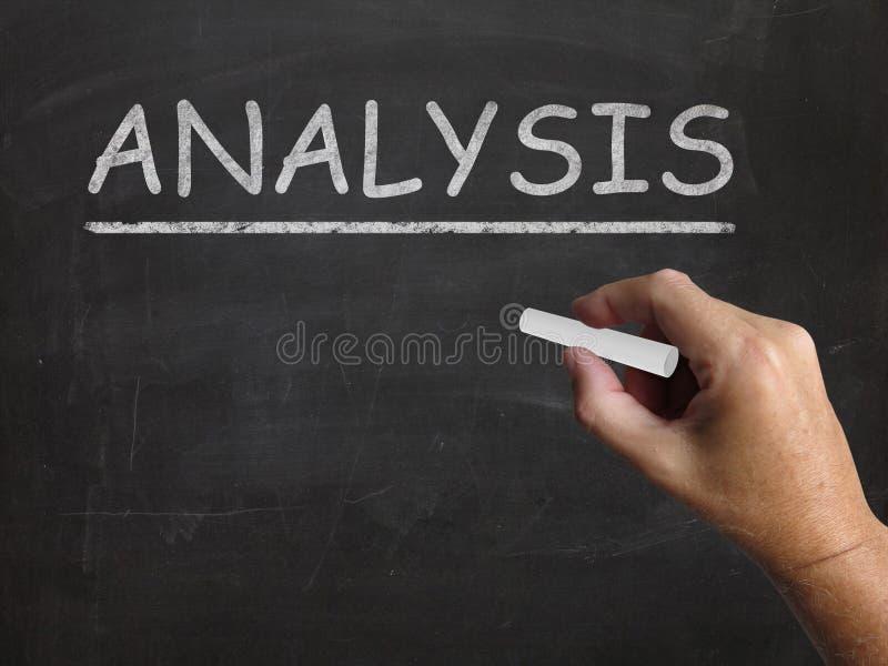 Auswertende Analyse-Tafel-Shows und stockfoto
