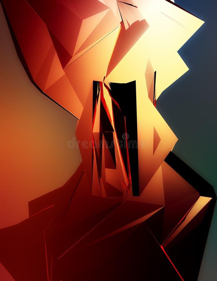 Auszug 3D stock abbildung