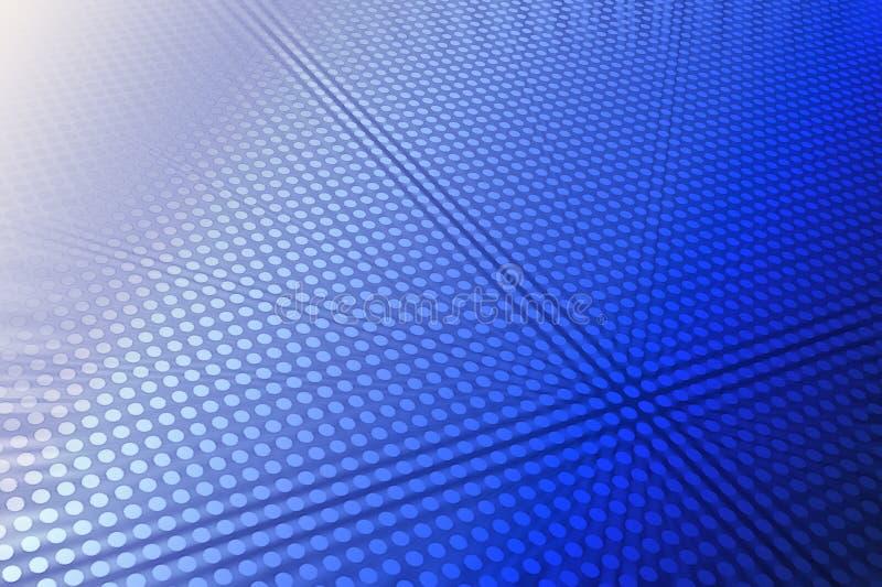 Auszug 3D in weißem und in Blauem stock abbildung