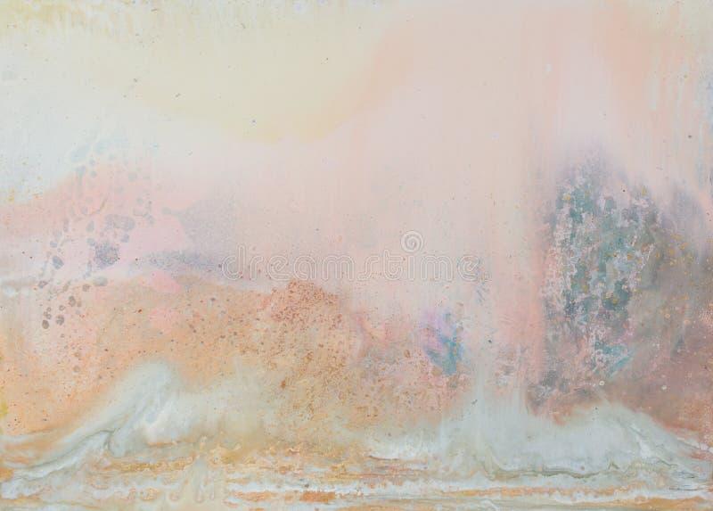 Auszug als Hintergrund Oli-Malerei Warme Farben Beschaffenheit der hohen Qualität extrem in der hohen Auflösung lizenzfreie stockfotos