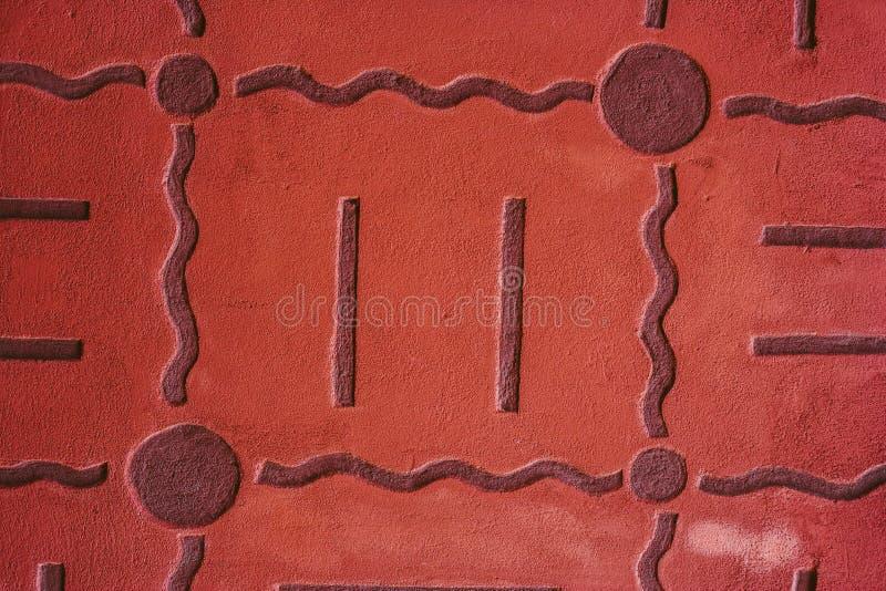 Auszug alte Backsteinmauer Geometrische Verzierung auf einem alten Papier stockfotos