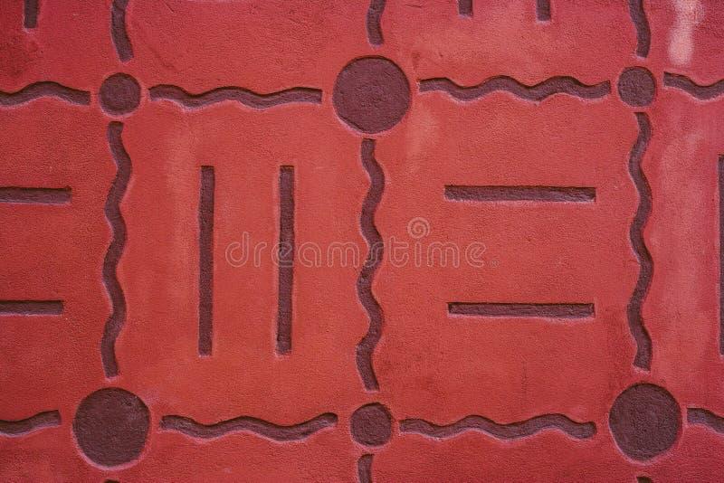 Auszug alte Backsteinmauer Geometrische Verzierung auf einem alten Papier lizenzfreies stockbild