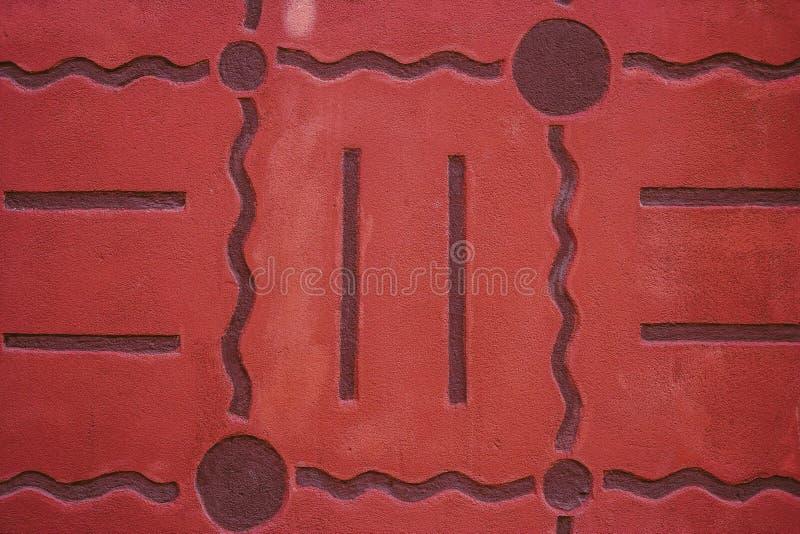 Auszug alte Backsteinmauer Geometrische Verzierung auf einem alten Papier stockbild