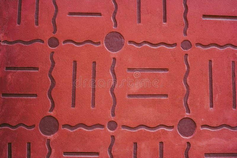Auszug alte Backsteinmauer Geometrische Verzierung auf einem alten Papier lizenzfreies stockfoto