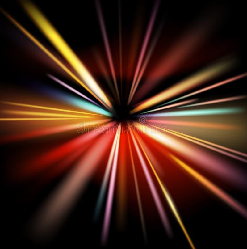 Auszug beleuchtet Hintergrund vektor abbildung