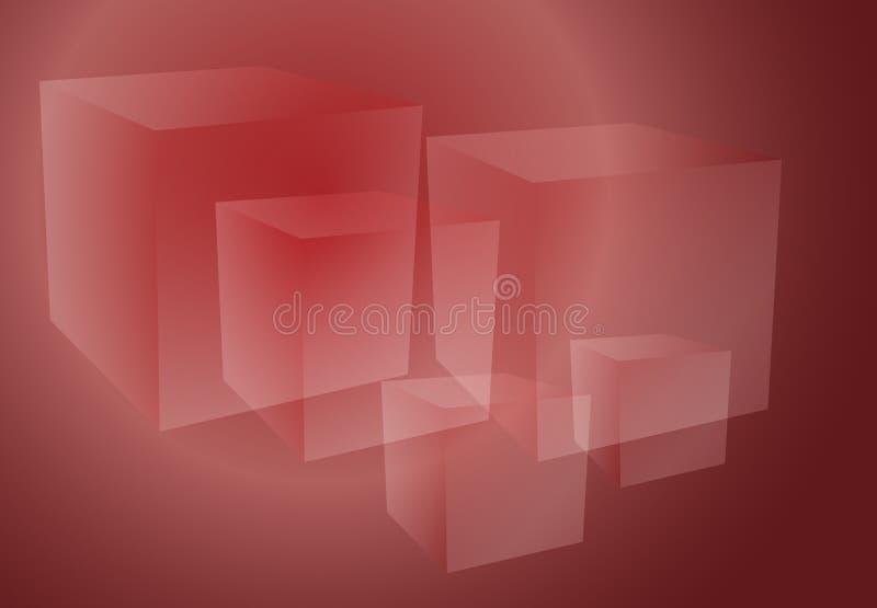 Auszug berechnet des Rotes stock abbildung
