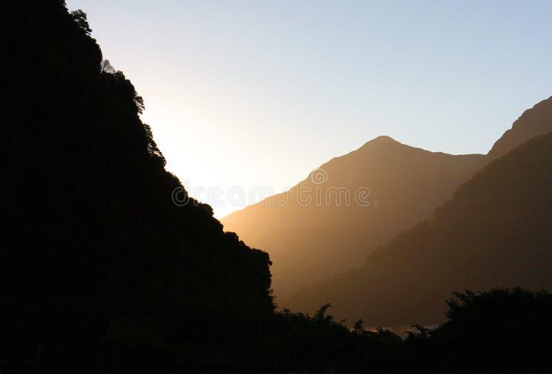 Auszug, Berge stockfotografie