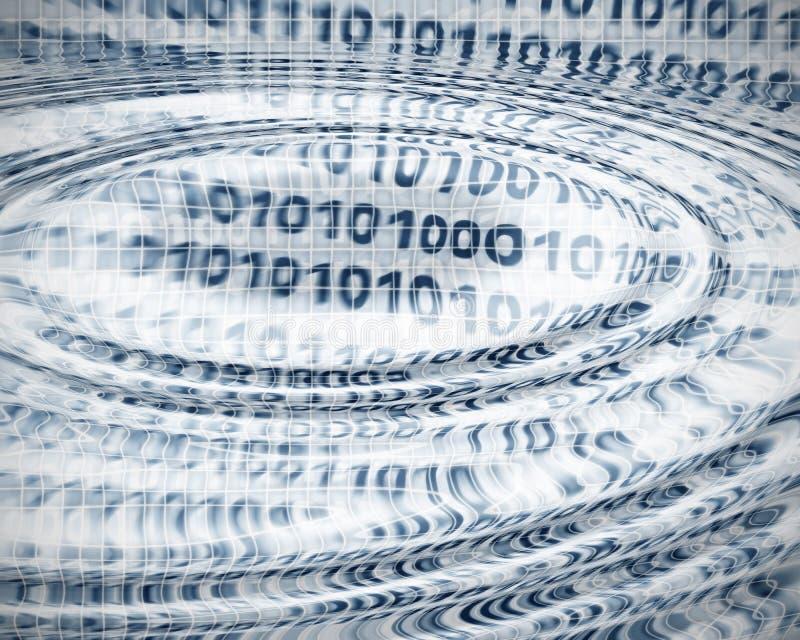 Auszug des binären Codes lizenzfreie abbildung