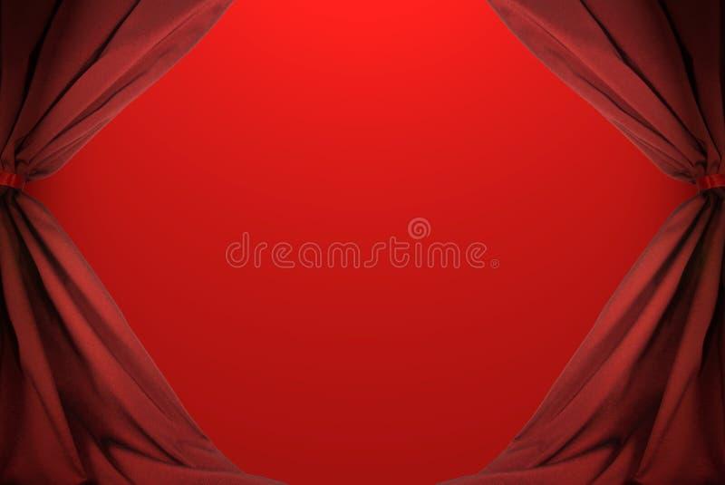 Auszug des roten Trennvorhangs stockfotografie