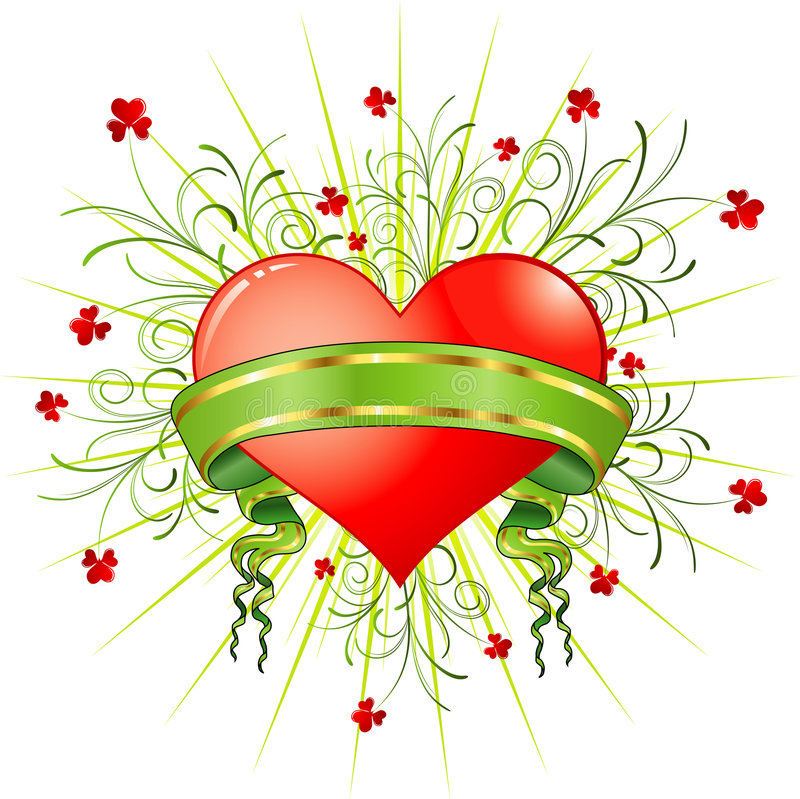 Auszug des Valentinsgrußes lizenzfreie abbildung