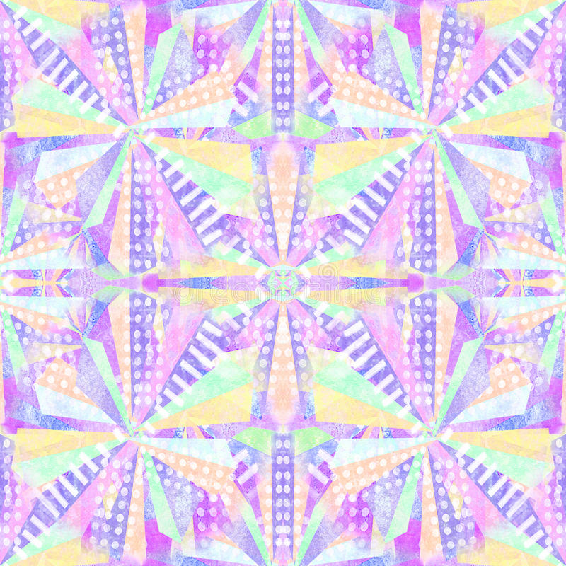 Auszug formt nahtloses Muster Wiederholen Sie geometrischen psychedelischen Mosaikhintergrund Kaleidoskopeffekt vektor abbildung