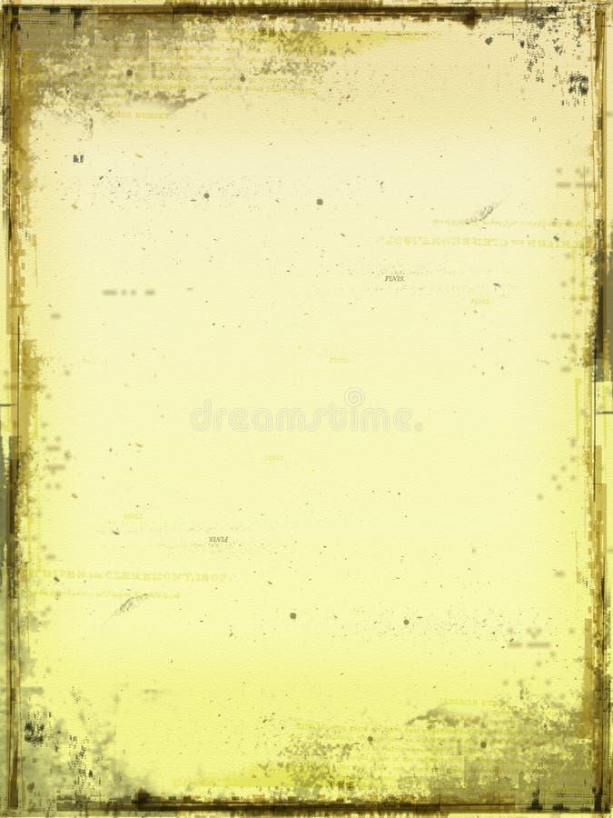 Auszug gealtertes Papier lizenzfreie abbildung